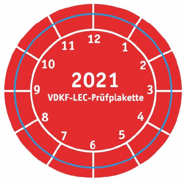 "VDKF-LEC-Prüfsiegel ""2021"""